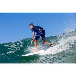 Lange Boardshorts Surfen 900 Psycho Neo blau