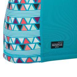 Uv-werende rashguard 500 met korte mouwen voor meisjes