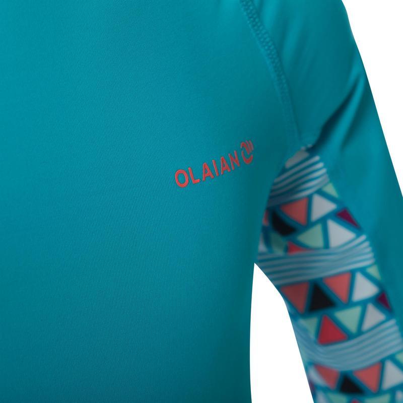 aad432aaf6 500 Girls' Short Sleeve UV-Protection Surfing T-Shirt   olaian