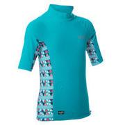 500 Girls' Short Sleeve UV-Protection Surfing T-Shirt