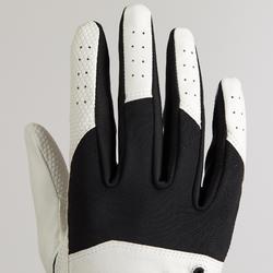 Golfhandschoen voor heren Resistance linkshandig wit/zwart