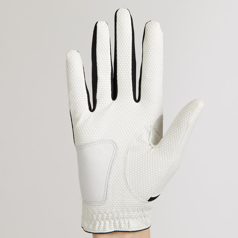 WHITE KID'S LEFT-HANDED GOLF GLOVE