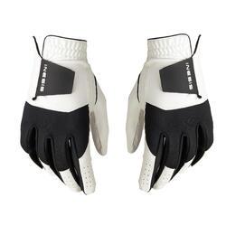女款高爾夫手套100(1雙入)-白色