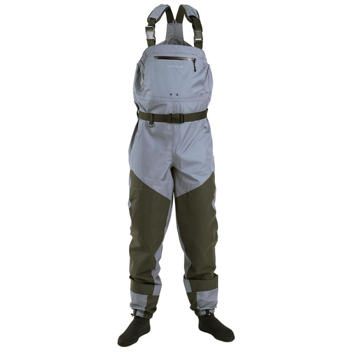 Vadeador transpirable de pesca con calcetín WDS-3L