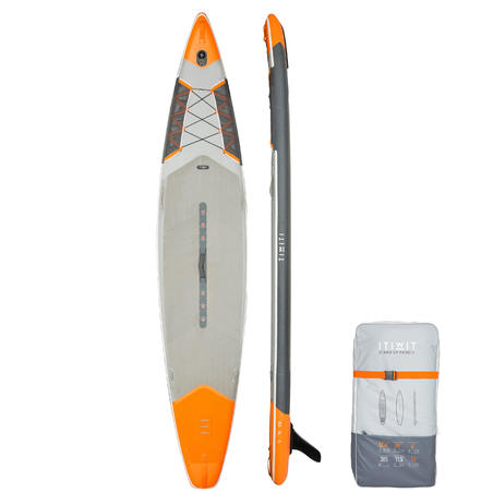 "Touring Inflatable Stand-Up Paddle Board 500 / 12'6""-29"" - Orange"