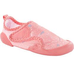 Turnschuhe atmungsaktiv Baby Light Babyturnen rosa mit Print