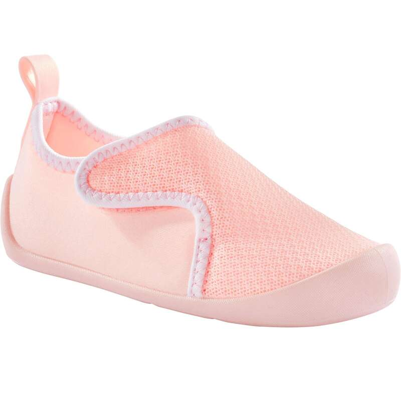 BABY GYM FOOTWEAR Baby and Toddlers - Bootee 110 - Pale Pink DOMYOS - Baby and Toddlers