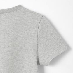 T-shirt met korte mouwen 100 peuter- en kleutergym grijs