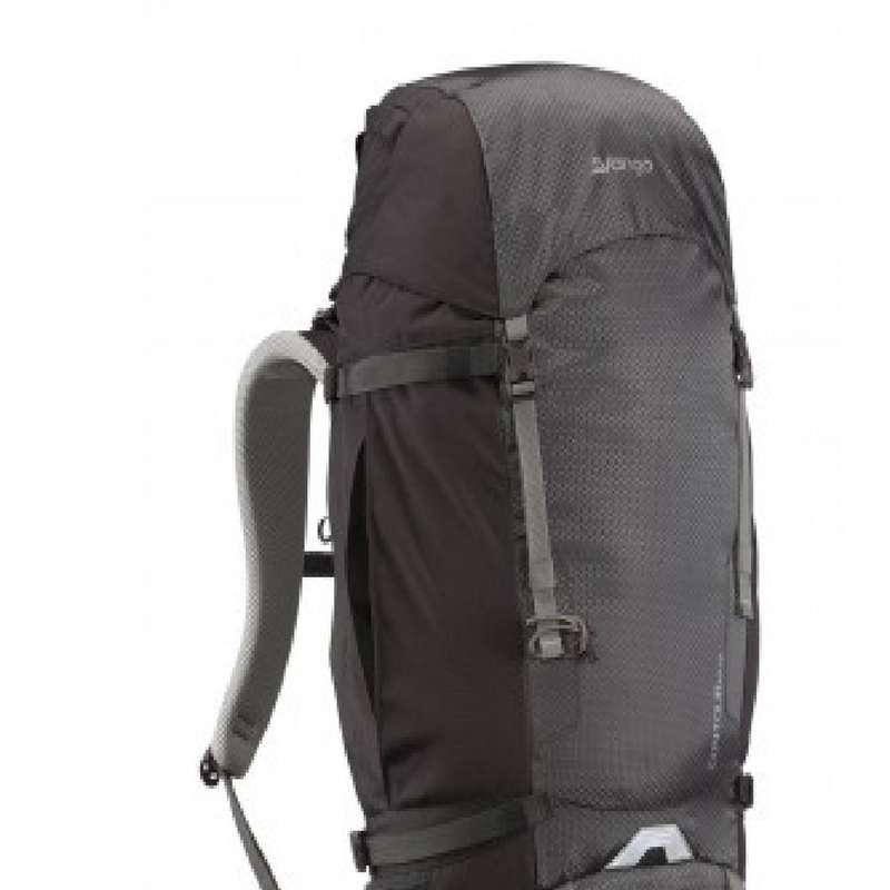 BACKPACKS 40L TO 70L TRAVEL TREKKING Trekking - Countour 60L + 10L Rucksack - Black / Grey VANGO - Trekking