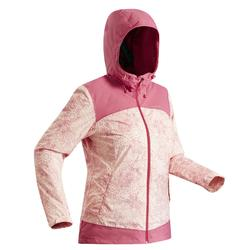 Women's snow hiking jacket SH100 X-Warm - Pink