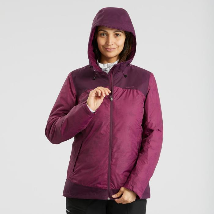 Veste chaude imperméable de randonnée neige femme SH100 x-warm violet
