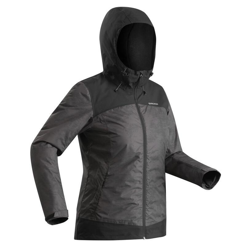 Abrigo Chaqueta de Montaña y Senderismo Nieve Mujer Quechua SH100 X-Warm Negro