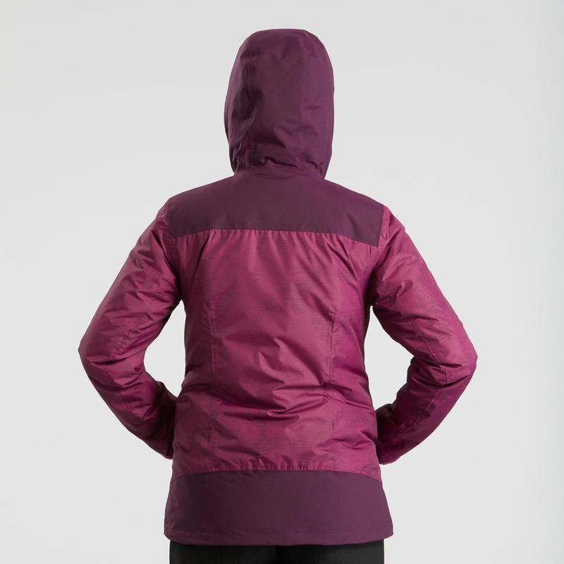 Women's Snow Hiking Jacket SH100 X-Warm (Waterproof) - Purple