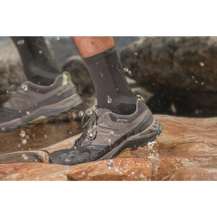 d924a4eb4ea Hiking Shoes Men s mountain walking waterproof shoes MH500 - Grey ...