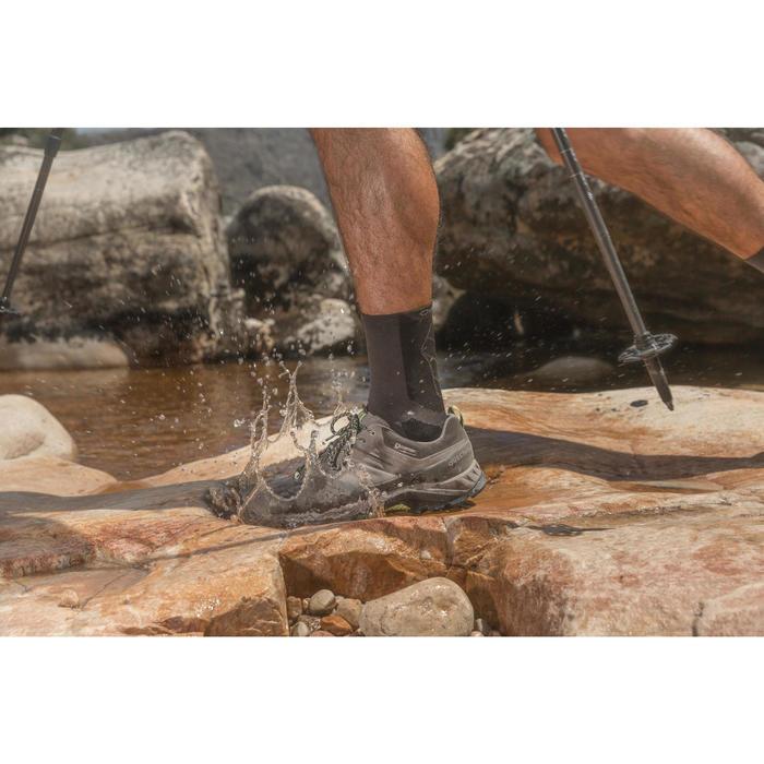 Men's waterproof mountain hiking shoes - MH500 - Black