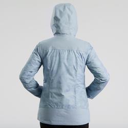 Wandeljas voor de sneeuw dames SH100 X-warm ijsblauw