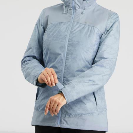 Women's x warm snow hiking jacket SH100 - Ice Blue