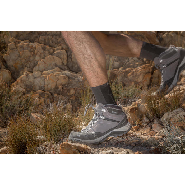 Men's waterproof mountain hiking shoes - MH500 Mid - Grey