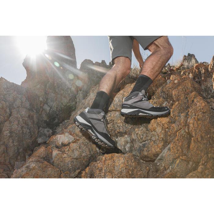 男款中筒防水登山健行鞋MH500-灰色