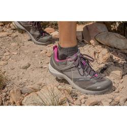Chaussures de randonnée montagne femme MH500 imperméables Gris Violet