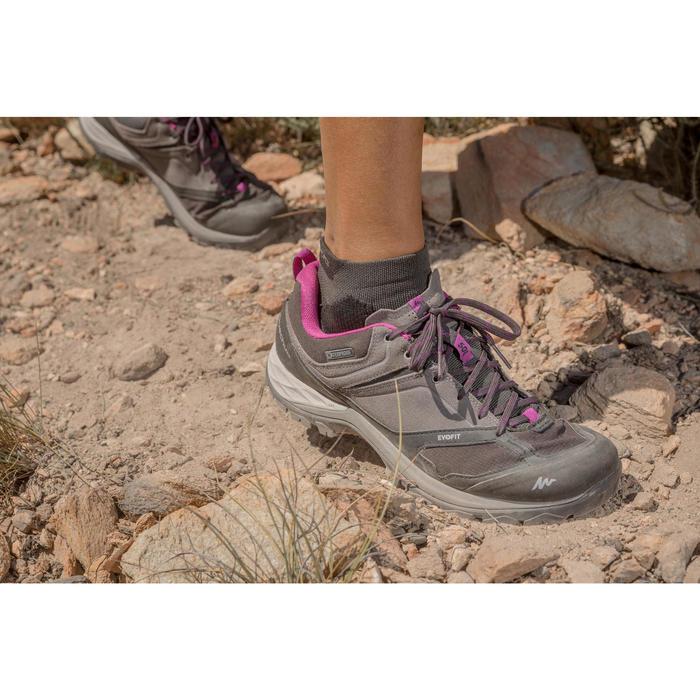Chaussures de randonnée montagne femme MH500 imperméables Rouge corail