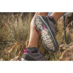 Waterdichte schoenen voor bergwandelen dames MH500 koraalrood