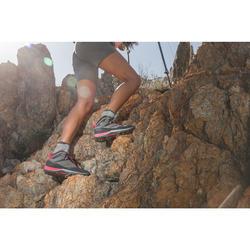 Wanderschuhe Bergwandern MH500 Mid wasserdicht Damen grau/rosa