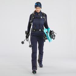 Veste polaire hybride de randonnée neige femme SH900 X-warm bleu