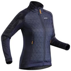 Women's Snow Hiking Hybrid Warm Fleece Jacket SH900 X-Warm