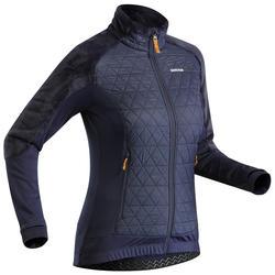 Women's X Warm Hybrid Snow Hiking Fleece Jacket SH900 - Blue