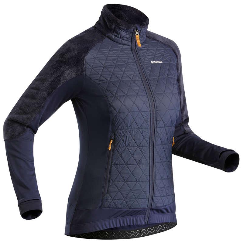 ABBIGLIAMENTO INVERNALE MONTAGNA DONNA Sport di Montagna - Pile donna SH 900 X-WARM blu  QUECHUA - Trekking donna