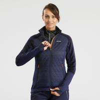 Women's X-Warm Hybrid Snow Hiking Fleece Jacket SH900 - Blue
