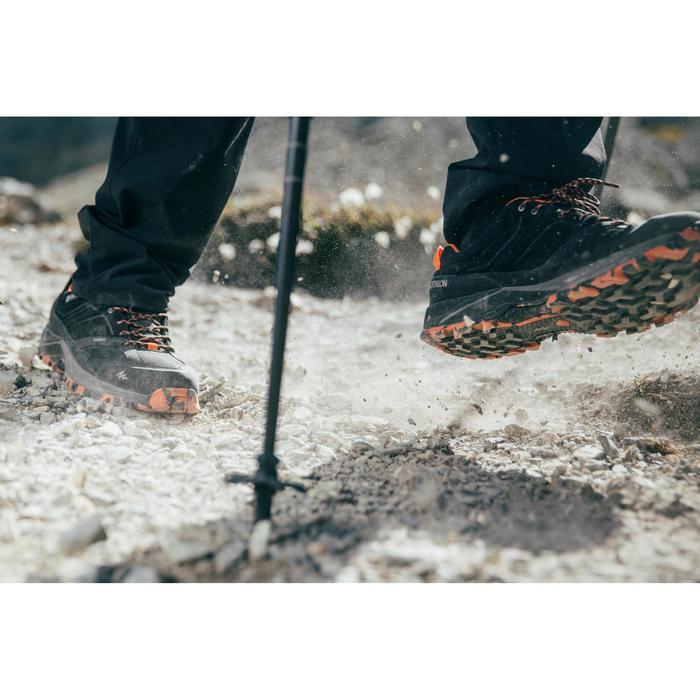 Wanderschuhe Bergwandern MH500 wasserdicht Herren schwarz