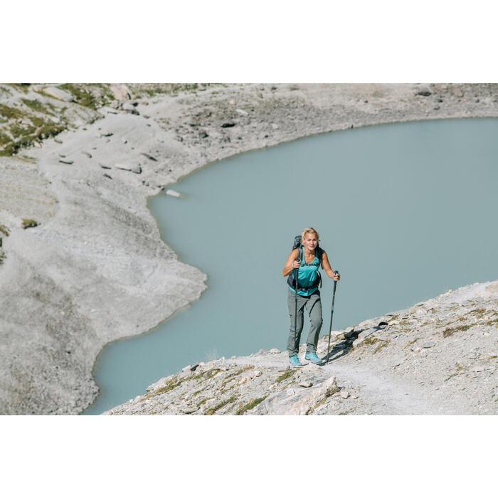 Pantalón transformable de senderismo montaña Mujer MH550 Caqui