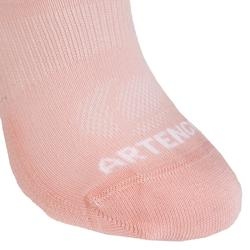 CHAUSSETTES DE SPORT JUNIOR BASSES ARTENGO RS 160 ROSE BLANC VERT LOT DE 6