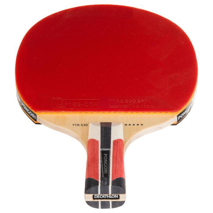 旋球短柄桌球拍及拍套TTR 530 5*