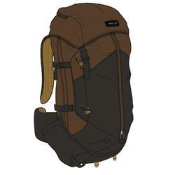 Men's mountain trekking rucksack | TREK 100 70L - beige