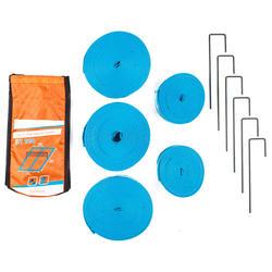 Delimitadores de campo de tenis playa BT 900 azul