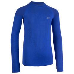 Hardloopshirt lange mouwen kinderen Skincare blauw