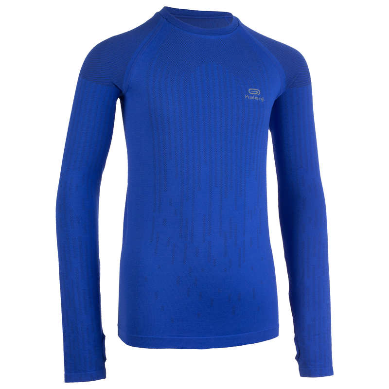 KIDS ATHLETICS CLOTHES ACCESS Clothing - AT 500 T-SHIRT SKINCARE BLUE KALENJI - By Sport