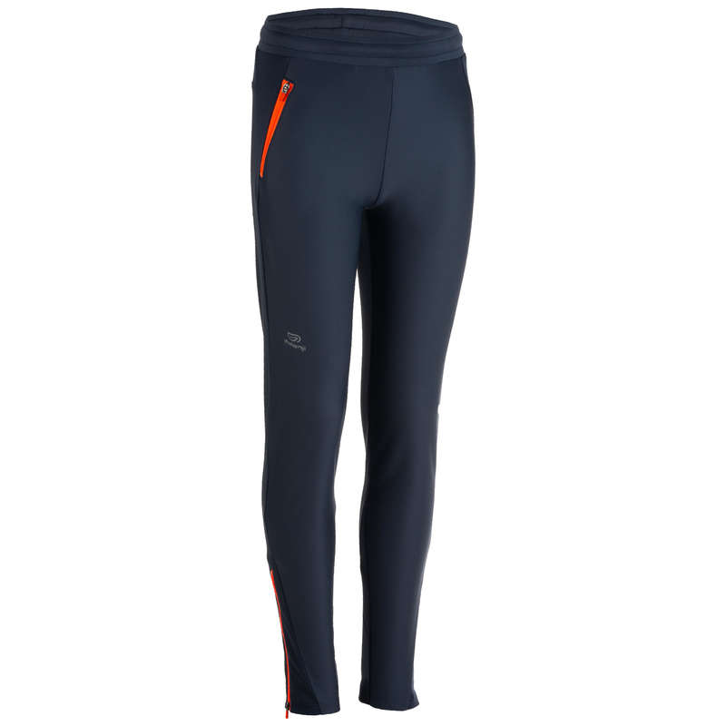 KIDS ATHLETICS CLOTHES ACCESS Running - Athletics Warm Trousers - Grey KALENJI - Running Clothing