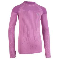 Hardloopshirt lange mouwen kinderen Skincare roze