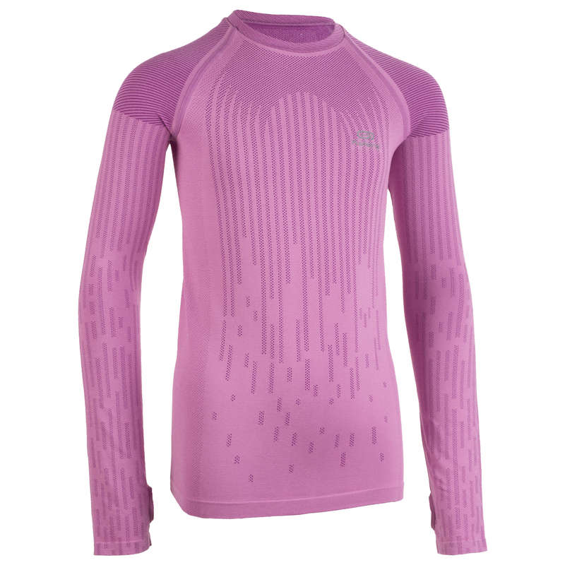 KIDS ATHLETICS CLOTHES ACCESS Clothing - G AT LS JERSEY SKINCARE - PINK KALENJI - By Sport