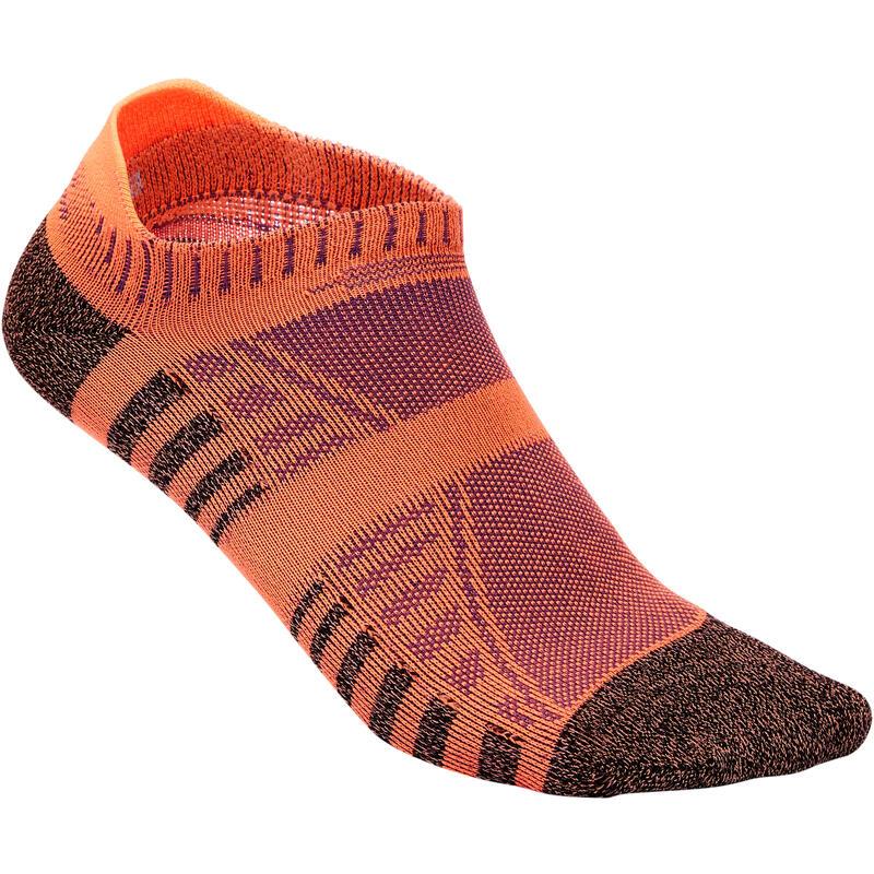 Calcetines para caminar/marcha nórdica/ marcha atlética WS 900 Invisible Naranja