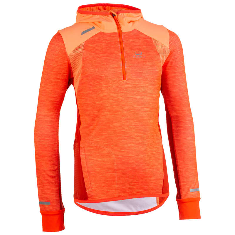 ÎMBRĂCĂMINTE ȘI ACCESORII ATLETISM COPII Alergare pe asfalt, Jogging, Trail, Atletism - Bluză atletism KIPRUN Fete  KALENJI - Imbracaminte copii