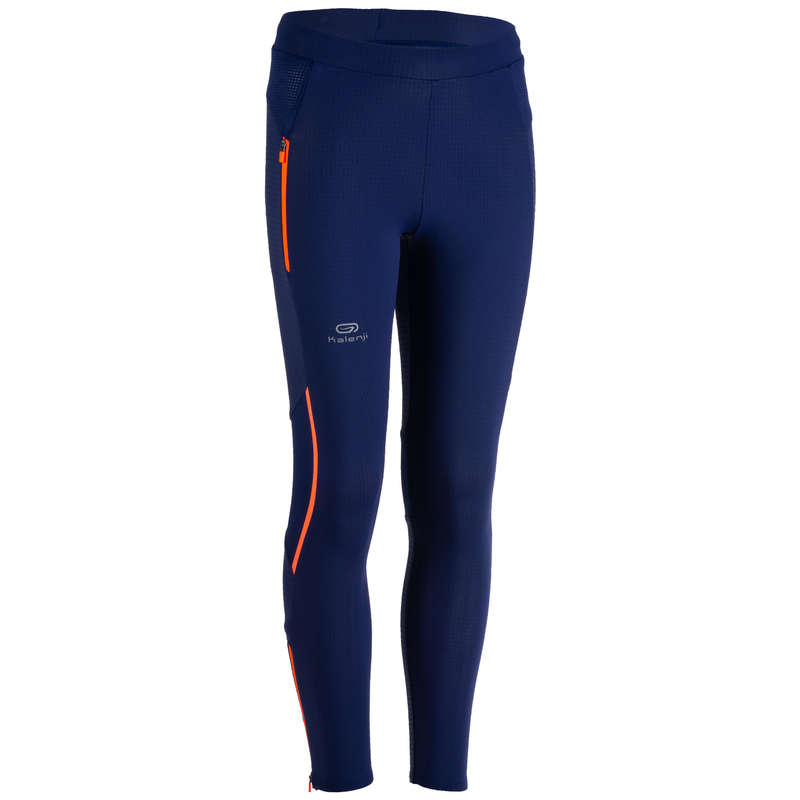 KIDS ATHLETICS CLOTHES ACCESS Clothing - KIDS' TIGHTS KIPRUN - BLUE KALENJI - By Sport