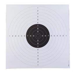 Schietschijf voor pistoolschieten 55x53 cm beige set van 20