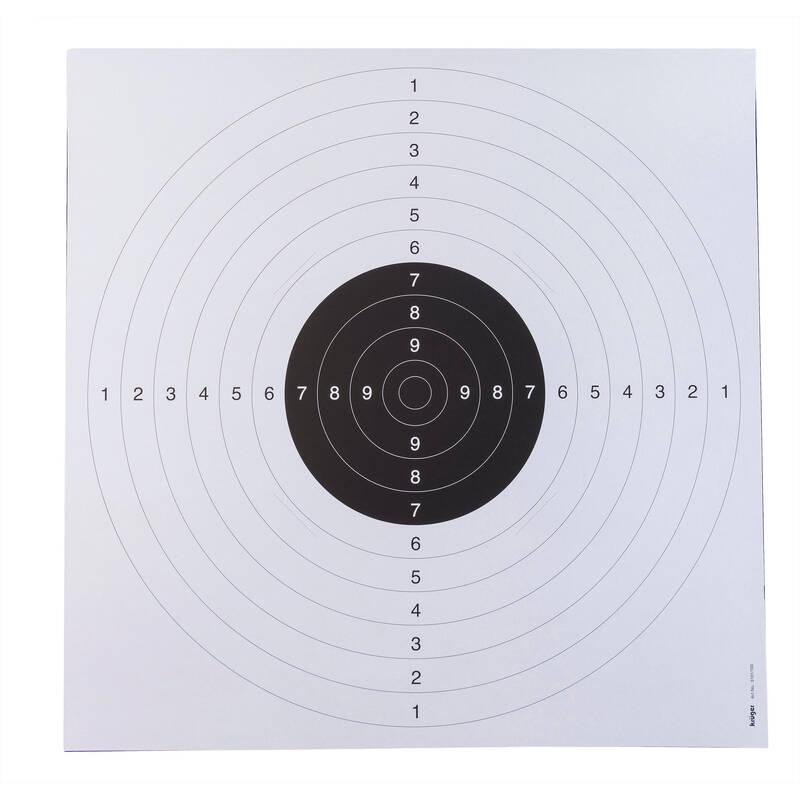 VYBAVENÍ NA STŘELBU NA TERČ Myslivost a lovectví - PISTOLOVÝ TERČ 25 M BÉŽOVÝ KRUGER DRUCK PLUS VE - Sportovní střelba