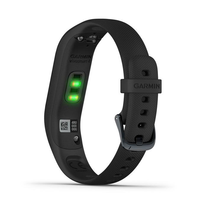 Fitnessarmband vívosmart 4 mit Herzfrequenzsensor am Handgelenk grau/schwarz