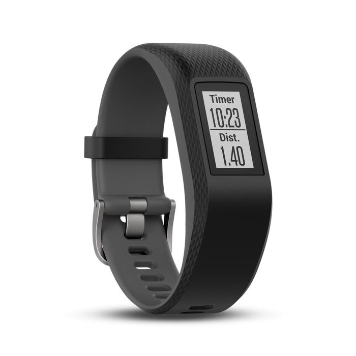 Activity tracker met hartslagmeting aan de pols Vivosport grijs